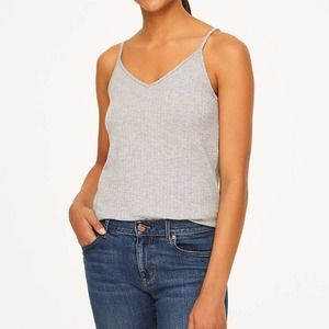 LOFT Gray Double V Cami